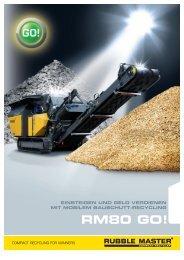 RM80-GO Produktprospekt_0910.indd - Rubble Master HMH GmbH