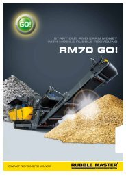 RM70 GO! Folder - Rubble Master HMH GmbH