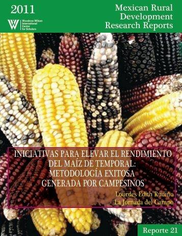 iniciativas para elevar el rendimiento del maíz de temporal