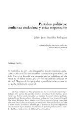 Partidos políticos: confianza ciudadana y ética responsable