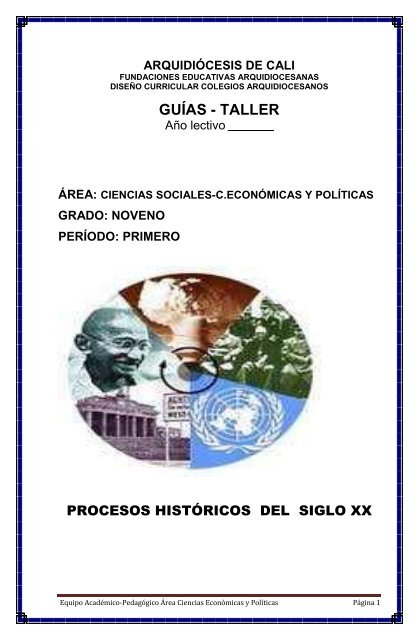 Guías Taller Fundaciones Educativas De La Arquidiócesis