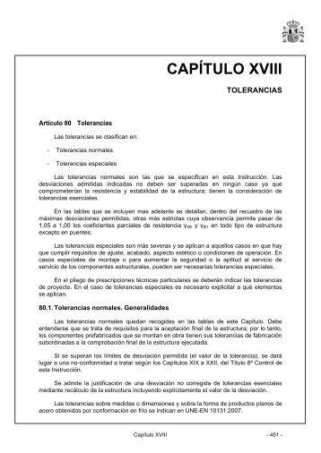 CAPÍTULO XVIII - Instrucción de Acero Estructural (EAE)