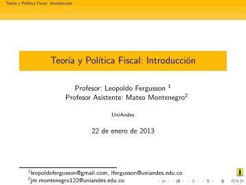 Teoría y Política Fiscal: Introducción
