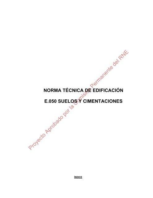 Norma Técnica De Edificación E 050 Suelos Y Cimentaciones