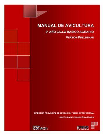 manual de avicultura - Escuela Agrotécnica Salesiana Don Bosco