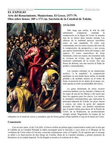 Comentario El Expolio El Greco - IES JORGE JUAN / San Fernando