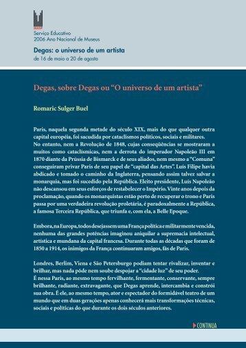 """Degas, sobre Degas ou """"O universo de um artista"""" - Masp"""