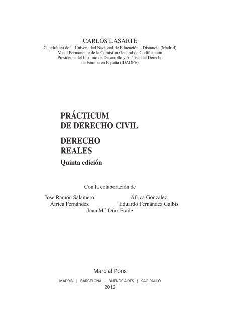 Prácticum De Derecho Civil Derecho Reales Marcial Pons