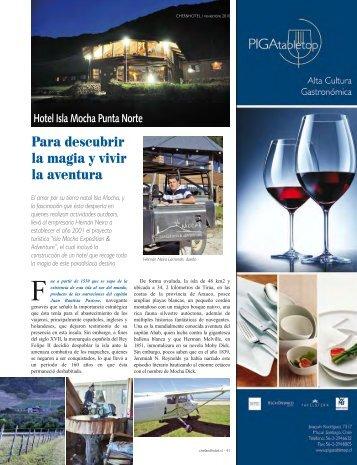 Para descubrir la magia y vivir la aventura - Chef & Hotel