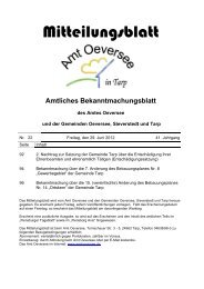 2. Nachtrag - Amt Oeversee