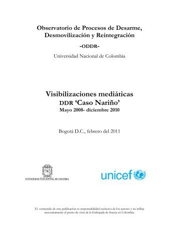 Caso Nariño - Observatorio DDR - Universidad Nacional de Colombia