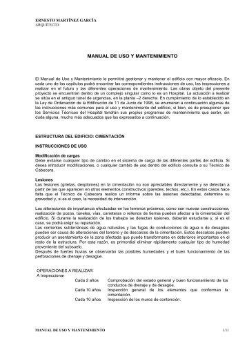 MANUAL DE USO Y MANTENIMIENTO