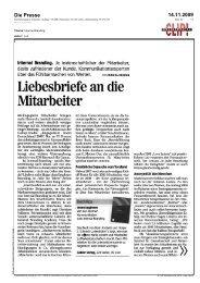Die Presse 14.11.2009