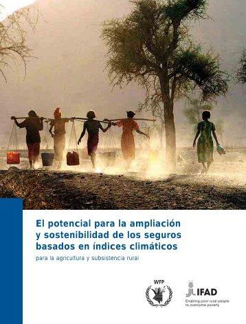 Ampliación y sostenibilidad de seguros basados en índices - IFAD
