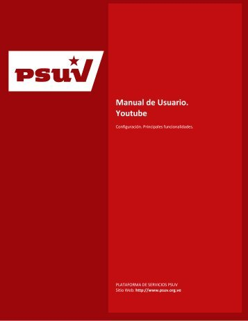Manual de Usuario Youtube - Desarrollo - Psuv
