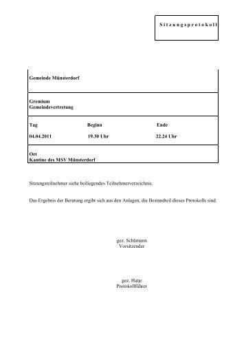 Deckungsmittel - was überbleibt - Amt Breitenburg