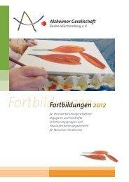 Fortbildungen - Alzheimer Gesellschaft Baden-Württemberg