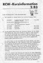 Kurzmitteilung 83-2 - Ruder-Club Witten eV
