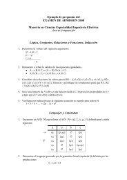 EXAMEN DE ADMISION - Cinvestav