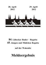 Meldeergebnis - Rudern.de - Ruder-Gesellschaft Lauenburg