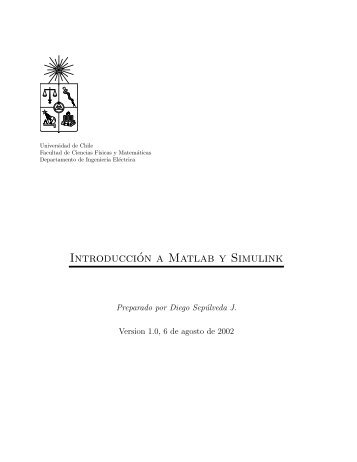 Introducción a Matlab y Simulink - Universidad de Chile
