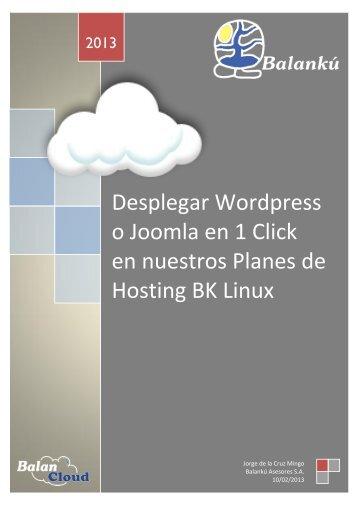 Desplegar Wordpress o Joomla en 1 Click en ... - Jorge de la Cruz