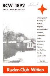 100 Jahre - Ruder-Club Witten eV