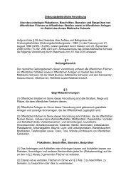 Ordnungsbehördliche Verordnung über das unbefugte Plakatieren ...