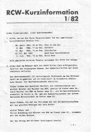 Kurzmitteilung 82-1 - Ruder-Club Witten eV