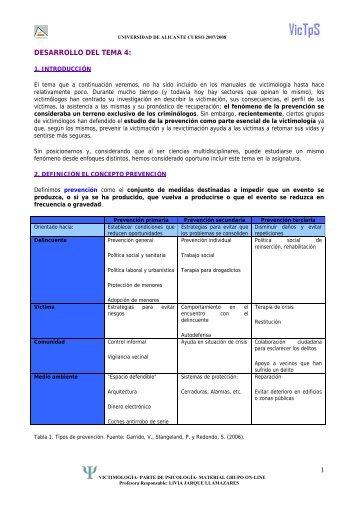 DESARROLLO DEL TEMA: - RUA - Universidad de Alicante