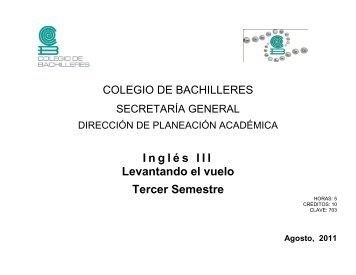 Inglés III - Colegio de Bachilleres