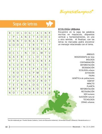 Sopa de letras - Universidad Estatal a Distancia