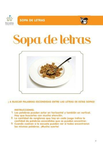 SOPA DE LETRAS - Escuelas del Bicentenario