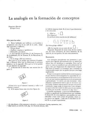 La analogía en la formació - SUMA Revistas de matemáticas