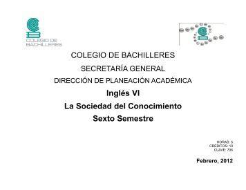 Inglés V - Colegio de Bachilleres
