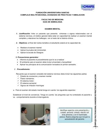 Examen Mental - Fundación Universitaria Sanitas
