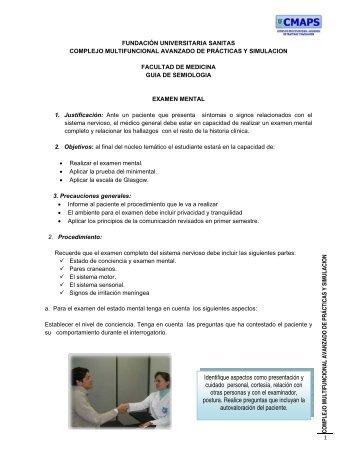 Examen Mental - Fundación Universitaria Sanitas