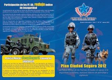 Plan Ciudad Segura 2012 - Ministerio de Defensa