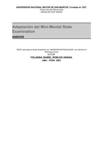 folstein mini mental status pdf