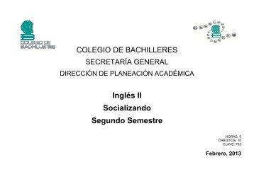 Inglés II - Colegio de Bachilleres