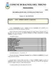 Delibera approvazione aliquote - Comune di Bagnoli del Trigno