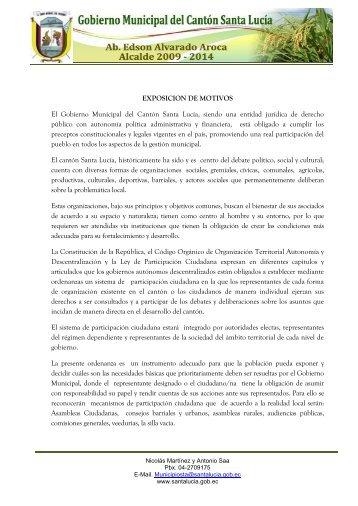 Ordenanza que norma el sistema de participación ciudadana en el ...