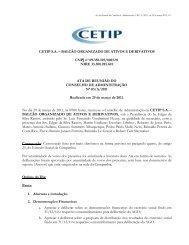 Ata da Reunião do Conselho de Administração - CETIP