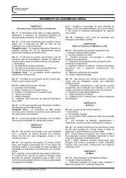 Regimento da Assembleia Geral - Sociedade Brasileira de ...