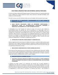 diez temas urgentes para una reforma judicial profunda - Centro de ...