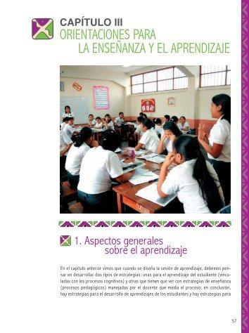 Orientaciones para la Enseñanza y el Aprendizaje - Educación ...