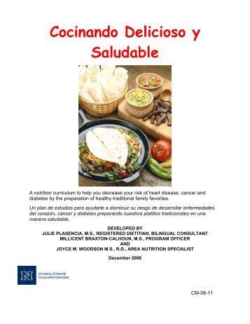 Cocinando Delicioso y Saludable - University of Nevada ...
