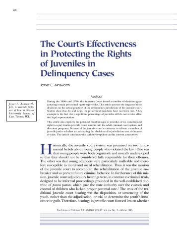 The Court's Effectiveness in Protecting the Rights of Juveniles in ...