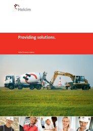Providing solutions.