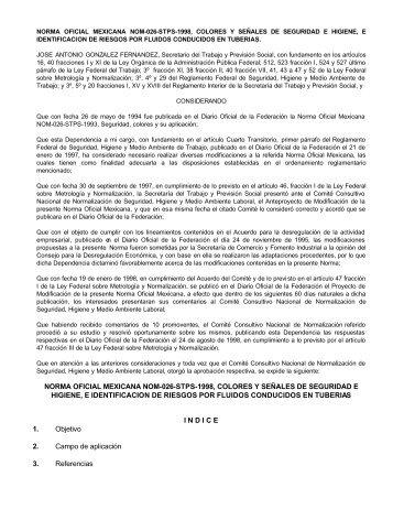 norma oficial mexicana nom-026-stps-1998, colores y señales